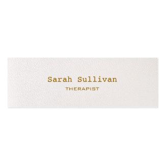 シンプルで暖かい白人のエレガントなプロフェッショナル スキニー名刺