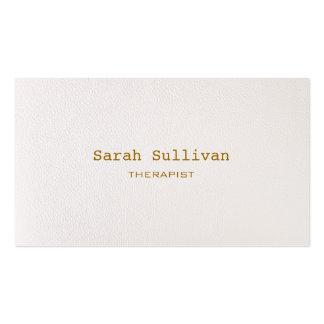 シンプルで暖かい白人のエレガントなプロフェッショナル スタンダード名刺