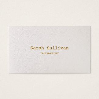 シンプルで暖かい白人のエレガントなプロフェッショナル 名刺