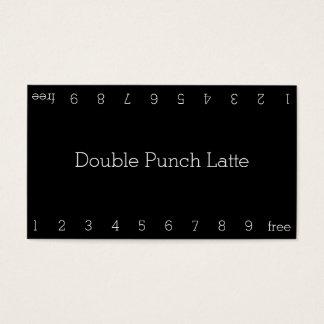 シンプルで暗いロイヤリティのコーヒーパンチカード 名刺