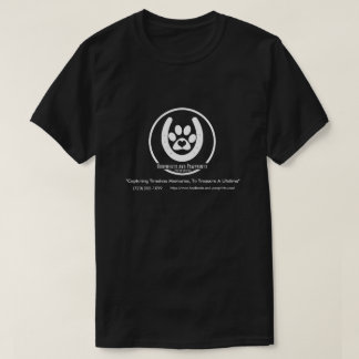 シンプルで白いロゴ Tシャツ