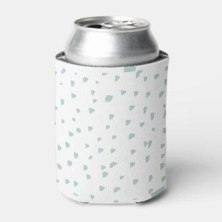 シンプルで真新しい青の抽象芸術パターン 缶クーラー
