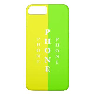 シンプルで粋なiPhoneの場合の春のライムの黄色25 iPhone 8 Plus/7 Plusケース