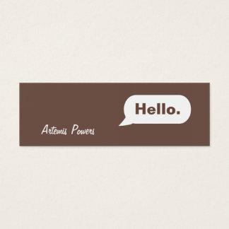 シンプルで細いIMメッセージの名刺の茶色 スキニー名刺