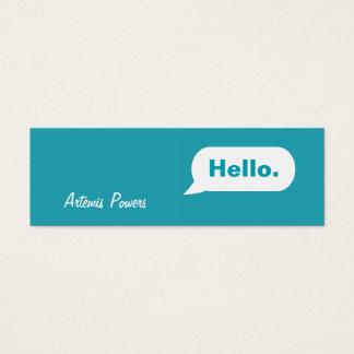 シンプルで細いIMメッセージの名刺の青 スキニー名刺
