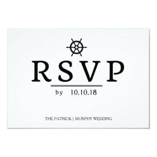 シンプルで航海のな結婚RSVPカード カード