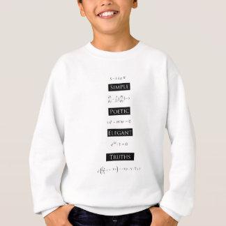 シンプルで詩的でエレガントな真実 スウェットシャツ