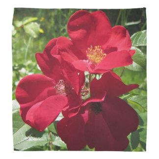 シンプルで赤いバラ バンダナ