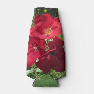 シンプルで赤いバラ ボトルクーラー
