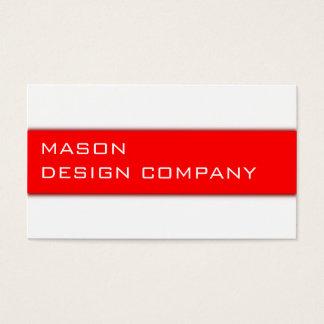 シンプルで赤く及び白く企業のでスタイリッシュなカード 名刺