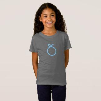 シンプルで青いオレンジアイコンワイシャツ Tシャツ