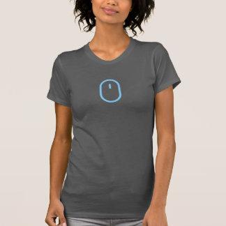 シンプルで青いマウスアイコンワイシャツ Tシャツ