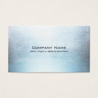 シンプルで青い銀によってブラシをかけられる金属の一見 名刺
