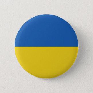 シンプルで青及び黄色ボタン 5.7CM 丸型バッジ