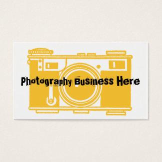 シンプルで黄色および黒いフィルムのカメラの名刺 名刺