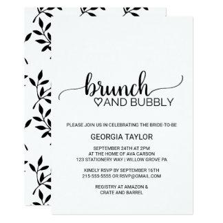 シンプルで黒く及び白い書道のブランチおよび快活 カード
