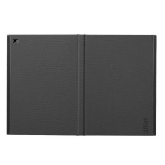 シンプルで黒く模造のなレザールックのモノグラム POWIS iPad AIR 2 ケース