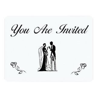 シンプルで、エレガントな結婚式招待状 16.5 X 22.2 インビテーションカード