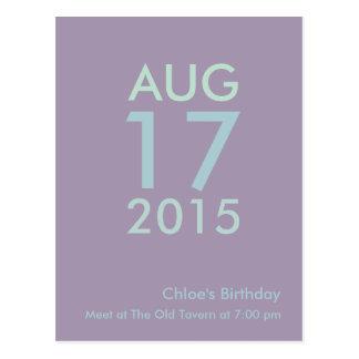 シンプルで、安くカスタマイズ可能な誕生日の郵便はがき ポストカード
