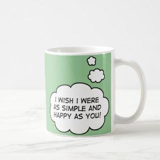 シンプルで、幸せなマグ コーヒーマグカップ