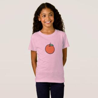 シンプルなオレンジアイコンワイシャツ Tシャツ