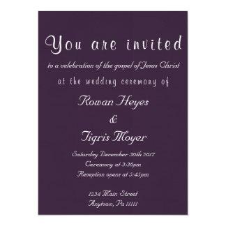 シンプルなキリスト教の結婚式招待状 14 X 19.1 インビテーションカード