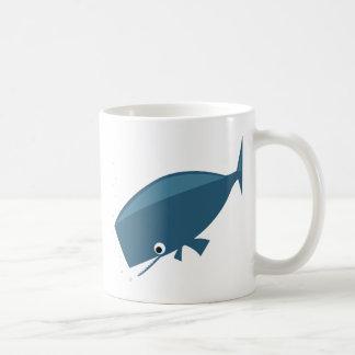 シンプルなクジラ コーヒーマグカップ