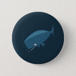シンプルなクジラ 5.7CM 丸型バッジ