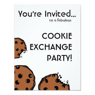 シンプルなクッキー交換パーティー カード