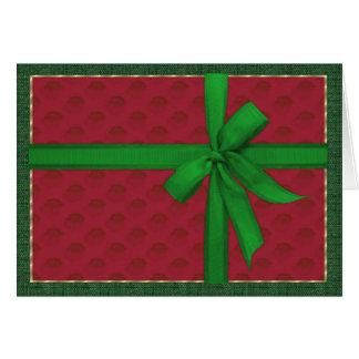 シンプルなクリスマスのパッケージ カード