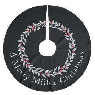 シンプルなクリスマスのリースのデザイン-木のスカート ブラッシュドポリエステルツリースカート