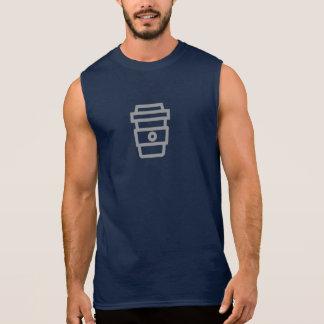 シンプルなコーヒーアイコンワイシャツ 袖なしシャツ
