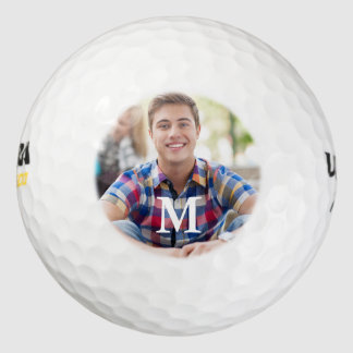 シンプルなゴルファーの写真テンプレート ゴルフボール