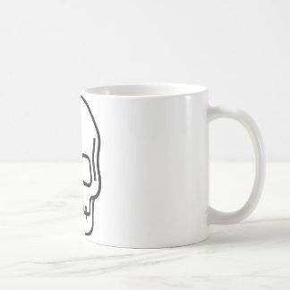 シンプルなスカル コーヒーマグカップ