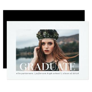 シンプルなスタイル|の写真の卒業のパーティの招待状 カード
