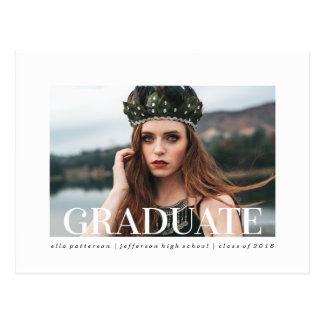 シンプルなスタイル|の写真の卒業の発表 ポストカード