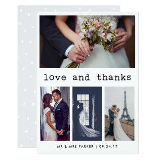 シンプルなタイプライターの文字の結婚式は|の4写真感謝していしています カード