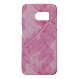 シンプルなタイルの陶磁器の表面のピンク SAMSUNG GALAXY S7 ケース
