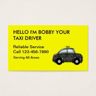 シンプルなタクシーの名刺 名刺