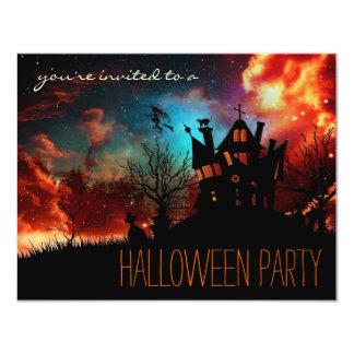 シンプルなハローウィンパーティの子供または大人の招待状 10.8 X 14 インビテーションカード