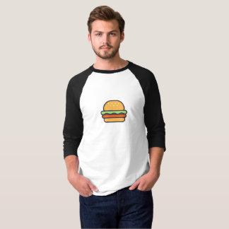 シンプルなハンバーガーアイコンワイシャツ Tシャツ