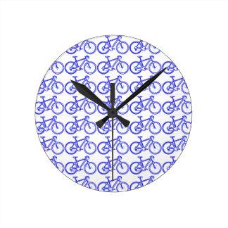 シンプルなバイクパターン ラウンド壁時計