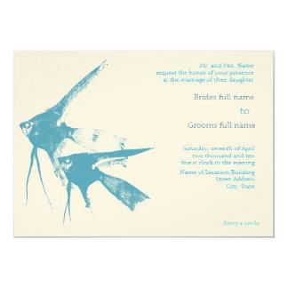 シンプルなビーチ結婚式の招待 12.7 X 17.8 インビテーションカード
