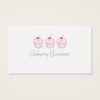 シンプルなピンクのカップケーキの名刺 名刺