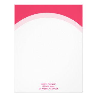 シンプルなピンクのボーダー レターヘッド