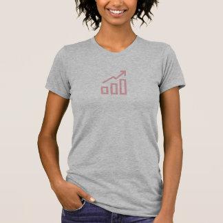 シンプルなピンクの上昇傾向アイコンワイシャツ Tシャツ