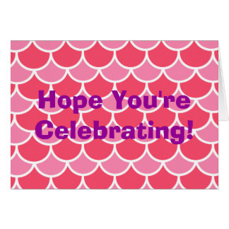 シンプルなピンクの帆立貝パターンは誕生日を祝います カード
