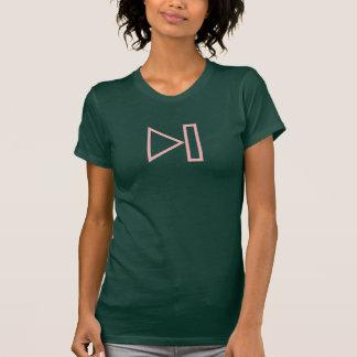シンプルなピンクの次のボタンアイコンワイシャツ Tシャツ