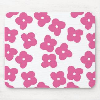 シンプルなピンクの花 マウスパッド