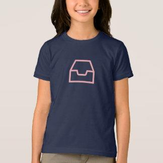 シンプルなピンクのInboxアイコンワイシャツ Tシャツ